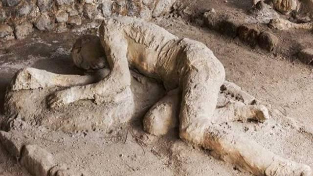 Taş kesilen pompei halkı