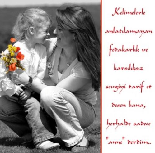 Ayrıca mesaj gönderebiliriz anneler gününde annemize en güzel