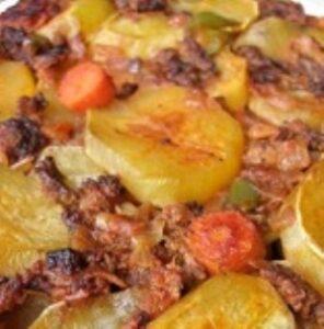 Kıymalı Patates Kızartması Tarifi