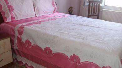 kanaviçe yatak örtüsü modelleri
