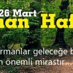 Orman Haftası Kutlama Programı