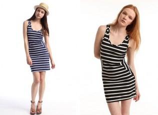2014-cizgili-elbise-modelleri