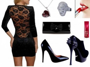 sırt-dekolteli-siyah-trend-elbise-kombin-modelleri