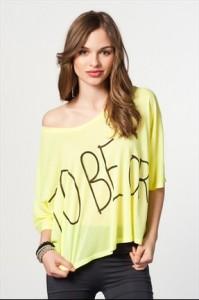 Koton-Sarı-Bayan-T-Shirt