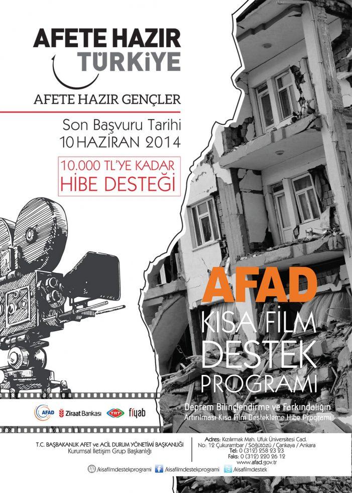 AFAD'dan gençlerin kısa film projelerine 10 bin liraya kadar destek