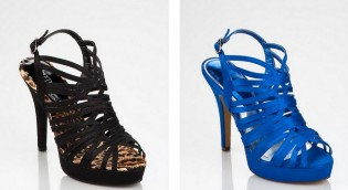 mavi siyah abiye ayakkabi