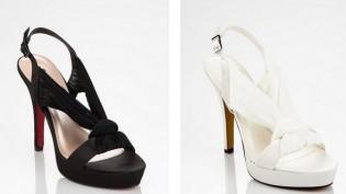 siyah beyaz abiye ayakkabilar