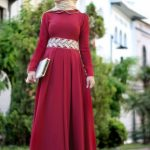 tesettürlü bayramlık elbiseler 2016