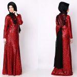 Abiye-Kırmızı-Payetli-Elbise
