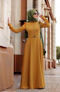 2016-Elbise-Hardal-Rengi-Tesettür-Giyim-Kombinleri