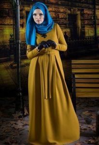 Hardal-sarısı-tesettür-abiye-modelleri-2016