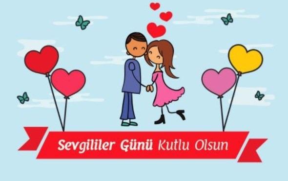 14 Şubat sevgililer günü tebrik kartları