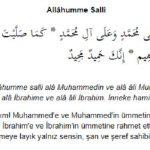Allahümme Salli Duası ve Anlamı Arapça Okunuşu
