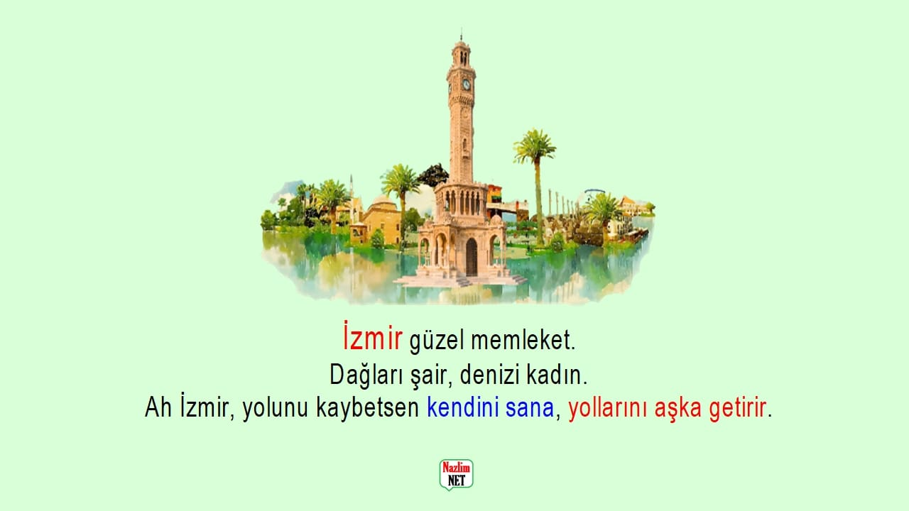 İzmir İle İlgili Sözler