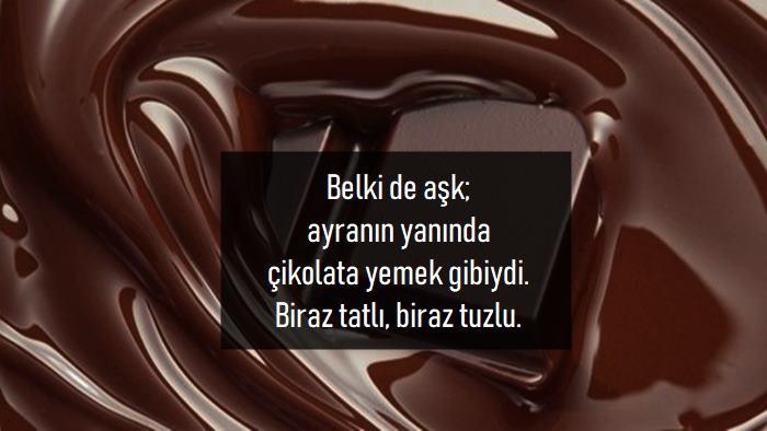 Çikolata İle İlgili Sözler