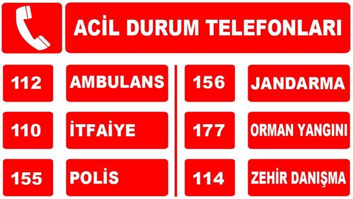 Önemli Telefon Numaraları Listesi