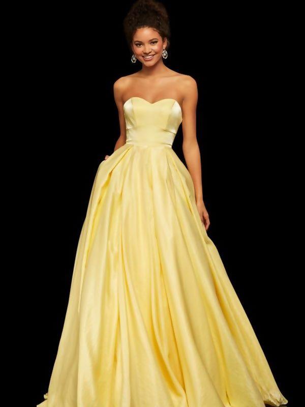Straplez Abiye Elbise Modelleri 2021